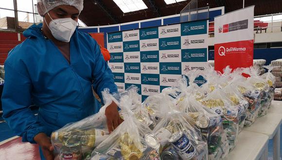 Midis entregó 90 toneladas de alimentos a ollas comunes en Chosica. (Foto: Midis)