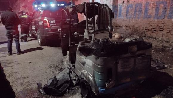 La unidad vehicular menor terminó convertido en una chatarra. (Foto: Feliciano Gutiérrez)