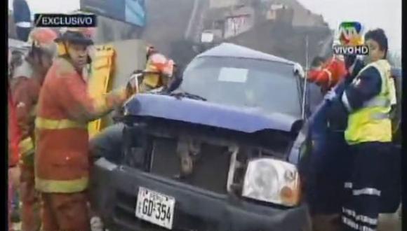 Director del Penal de Piedras Gordas sufrió accidente de tránsito