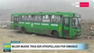 Ate: Mujer fallece tras ser atropellada por ómnibus en Huaycán