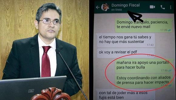 Difunden una falsa conversación entre el fiscal Domingo Pérez y Gustavo Gorriti (FOTOS)
