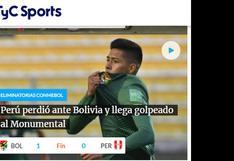 Selección peruana perdió ante Bolivia y así informó el mundo (FOTOS)