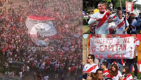 Paolo Guerrero: Miles de hinchas marchan en apoyo al capitán de la Selección Peruana (FOTOS y VIDEOS)