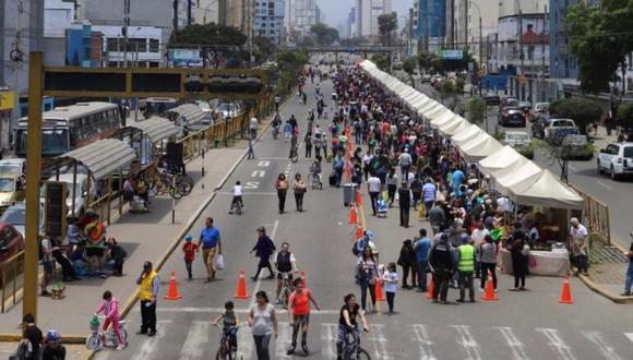 Los vecinos podrán, de 7 a.m. a 1 pm., manejar bicicleta, caminar, correr, trotar, patinar o practicar algún tipo de deporte en un tramo de más de 8 kilómetros de la Av. Brasil. (Difusión)