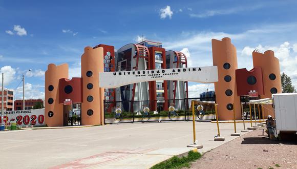 Universidad Andina Néstor Cáceres Velásquez de Juliaca.