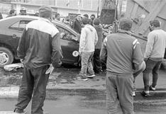 Chimbote: Tres trabajadores de limpieza resultan heridos por conductor que los atropelló