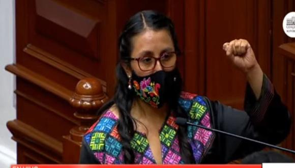Ruth Luque, de Juntos por el Perú, detalló que existen localidades en el Perú en las que no hay acceso a internet ni a servicios como Aprendo en Casa .(Foto: Congreso)