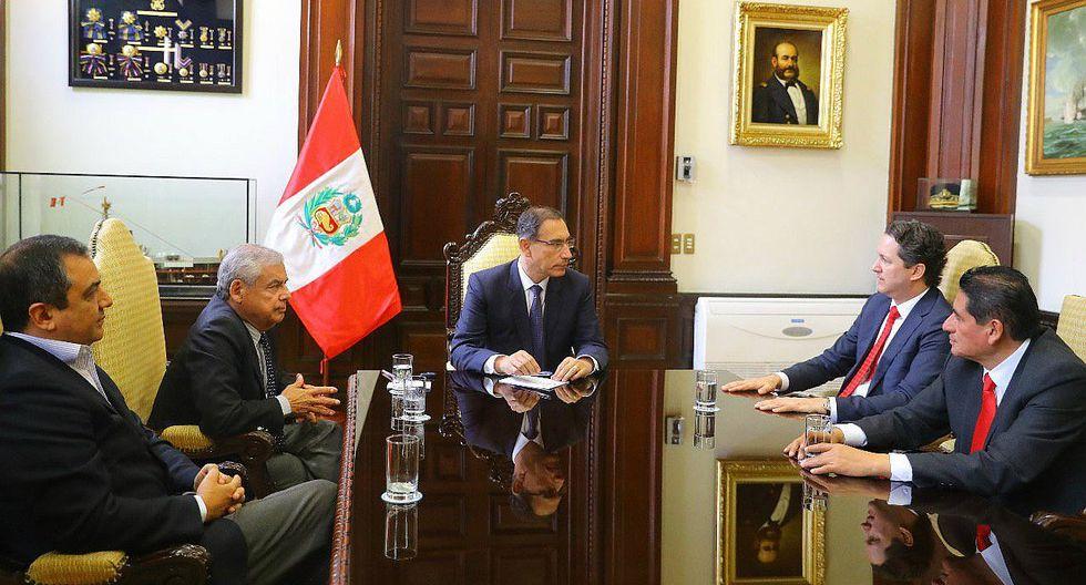 Presidente Vizcarra y Daniel Salaverry se reunieron en Palacio de Gobierno