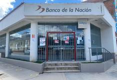 Banco de la Nación cierra por un mes su única agencia en Acobamba
