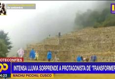 Cusco: Intensa lluvia sorprende a protagonista de 'Transformers'