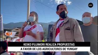 Candidata de Fuerza Popular realiza propuestas a favor de los agricultores durante su visita a Yungay
