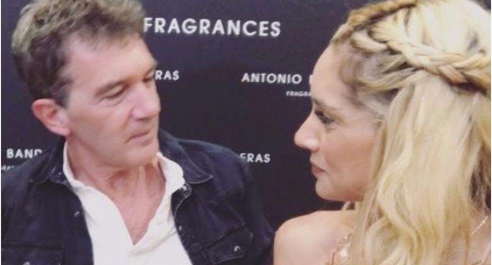 Instagram: Brenda Carvalho y el gran beso que recibió de Antonio Banderas (FOTO Y VIDEO)