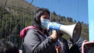 Huaraz: Keiko Fujimori se compromete a construir un puente carrozable en el poblado de Quechcap