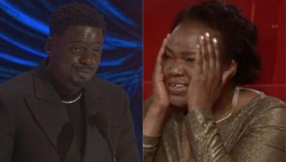 Daniel Kaluuya tuvo un peculiar discurso en los Oscar 2021 y así reacción su madre. (Foto: Captura de video)