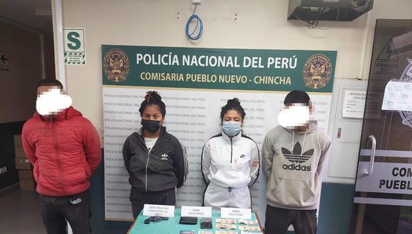 Cae banda de roba autos integrada por mujeres y dos adolescentes en Chincha.