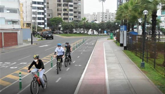Entre enero a mayo se registraron 779 casos de invasión de espacios exclusivos para ciclistas y 1.221 de obstrucción. (Foto referencial: Municipalidad de Miraflores)