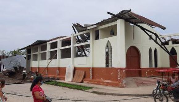 San Martín: vientos fuertes y lluvias dejan como saldo a más de 80 viviendas afectadas (Foto difusión).