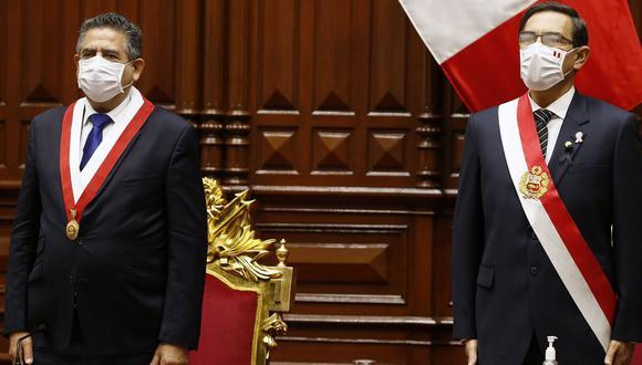 Manuel Merino negó haber complotado contra el gobierno del presidente Martín Vizcarra.