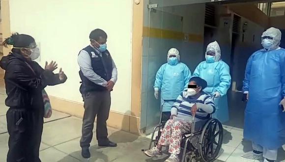 Primera paciente con COVID-19 del área de UCIN recibe el alta médica en Chincha