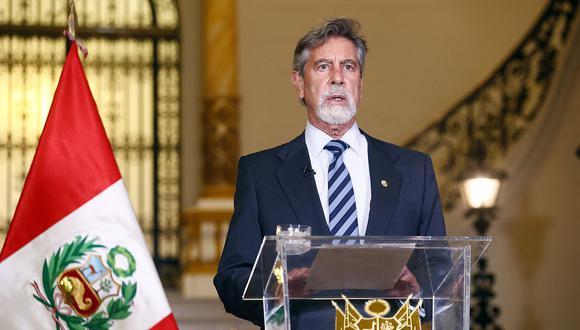Francisco Sagasti emitió un mensaje a la Nación denunciando graves hechos. (Foto: Presidencia)