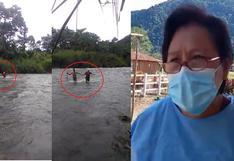 Obstetra cruza caudaloso río Anapati para atender a familias en el Vraem (VIDEO)