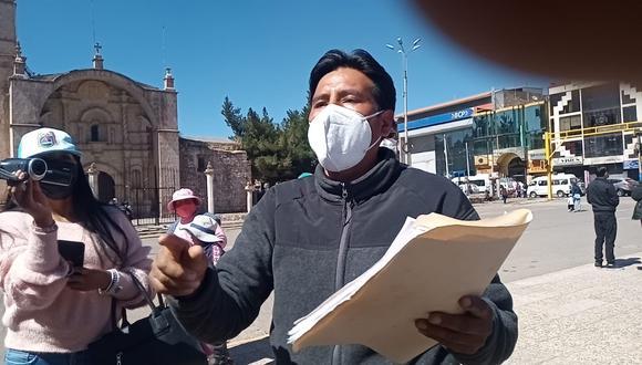 El dirigente Antero Pimentel, señaló que en dos reuniones no se pudo solucionar el pliego de reclamos. (Foto: Feliciano Gutiérrez)