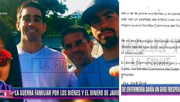 Hijo de Javier Carmona presentó informe que mostraría mejora en la salud de su padre (VIDEO)