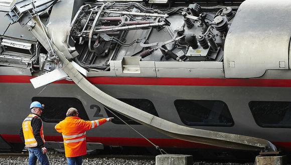 Tres heridos por ferrocaril descarrilado en Suiza