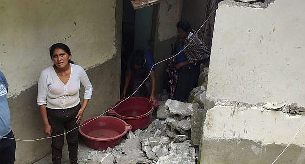 Huaico arrasó tres viviendas en la selva de la región Puno