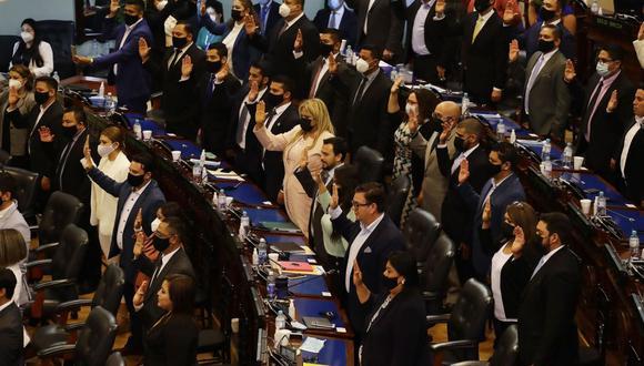 El Congreso de El Salvador, con mayoría del partido del presidente Nayib Bukele, destituyó a los jueces constitucionales de la Corte Suprema. (EFE/Rodrigo Sura).