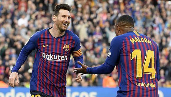 Barcelona supera a Espanyol con doblete de Messi