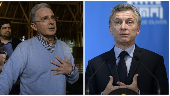 """Álvaro Uribe dice que le """"dolió"""" que Mauricio Macri apoyara el sí a acuerdo de paz"""