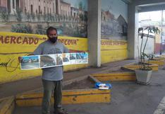 Murales del Mercado Central se han convertido en urinario público