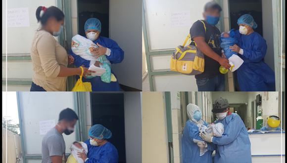 Piura: Cuatro bebés recién nacidos de madres con COVID-19 fueron dados de alta