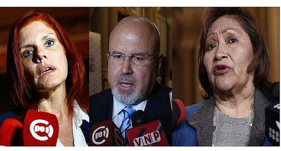 Congresistas Aráoz, Bruce y Choquehuanca renuncian a bancada de PPK