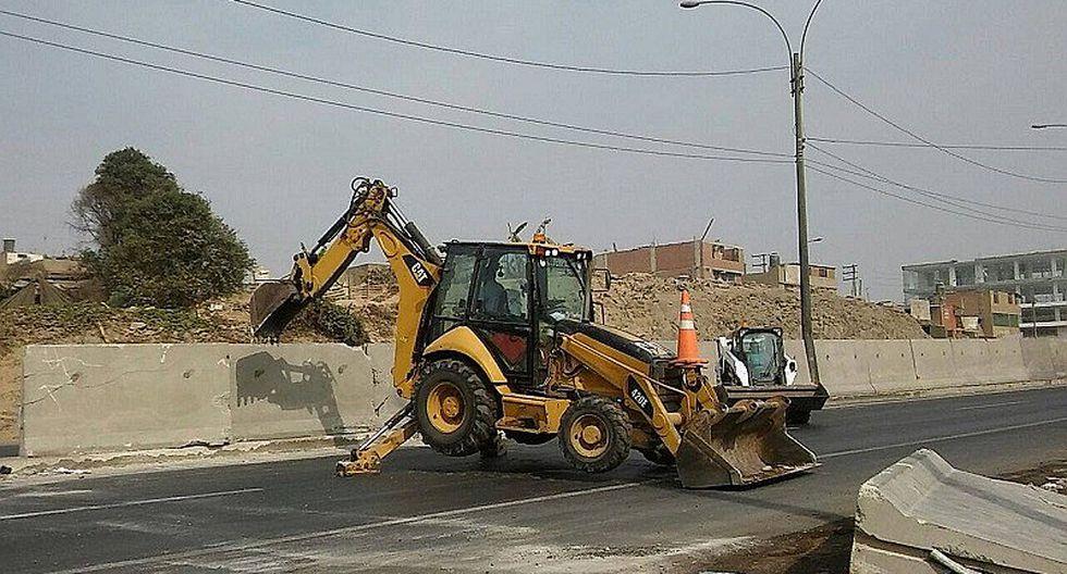 Puente Piedra: Retiran bloques de concreto dañados durante marcha contra peaje