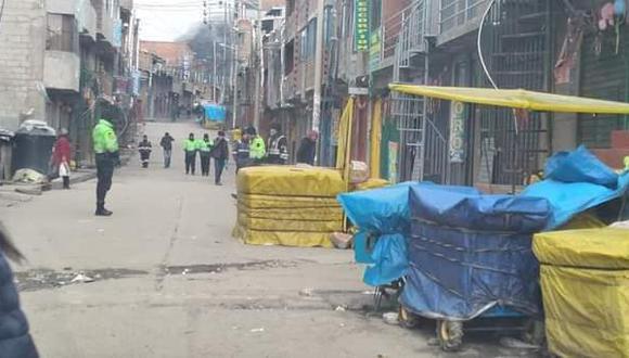 Detienen a sospechoso en el centro poblado de La Rinconada.