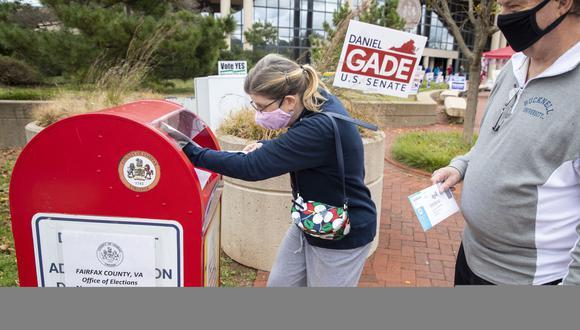 En Fairfax, Virginia, ya se está realizando la votación de manera anticipada. Un gran porcentaje de la población también ha emitido su voto por correo postal. (EFE)