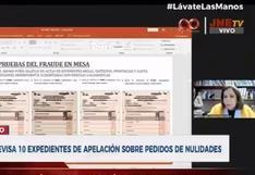 """Lourdes Flores: """"Existe un mismo puño gráfico en actas de escrutinio de diferentes centros de votación"""""""