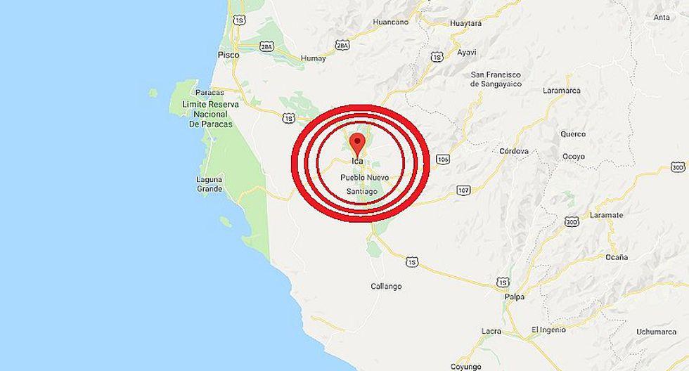 Ica: sismo de magnitud 5.2 se registró esta madrugada