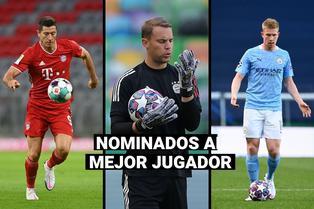 UEFA: De Bruyne, Lewandowski y Neuer, los nominados al premio jugador del año