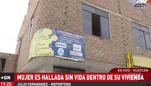 Hallan muerta a madre de familia en interior de una casa de Huaycán, en Ate. (ATV+)