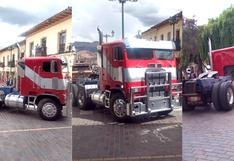 Transformers: Optimus Prime es el rey del drifting en Cusco (VIDEO-FOTOS)