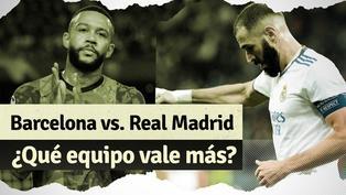 Barcelona vs. Real Madrid: ¿Qué equipo tiene más valor en el mercado?
