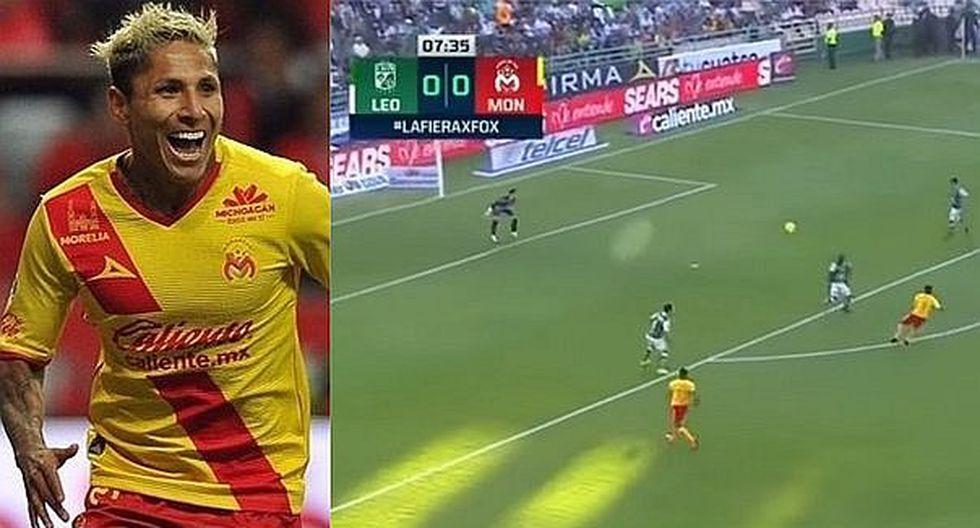 Raúl Ruidíaz anotó golazo colgando al arquero en la liga mexicana (VIDEO)