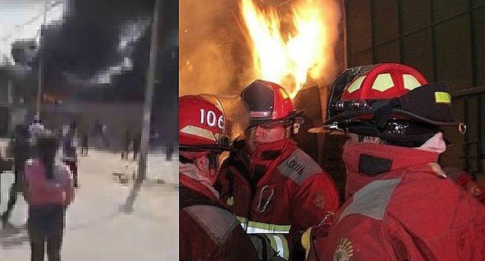 Se registra incendio en fábrica de Carabayllo (VIDEO)