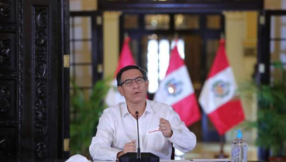 El presidente Martín Vizcarra no ha vuelto a ofrecer una conferencia de prensa desde Palacio de Gobierno, pese a que en sus pronunciamientos destaca, una y otra vez, su supuesto ánimo de transparentar esa y cualquier investigación. (Foto: Presidencia de la República)