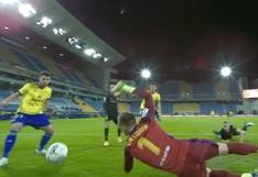 Álvaro Giménez firmó el gol del 1-0 de Cádiz sobre Barcelona (VIDEO)