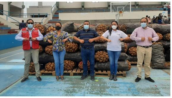 La Asociación de Agricultores Agroexportadores Propietarios de Terrenos de Chavimochic (APTCH) precisó que los alimentos alcanzarán para 130 comedores populares de Trujillo y Chao.