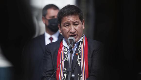"""""""¿Cómo le voy a decir eso si no tengo confianza con la congresista?"""", dijo Guido Bellido sobre Patricia Chirinos. (Foto: Hugo Pérez / GEC)"""